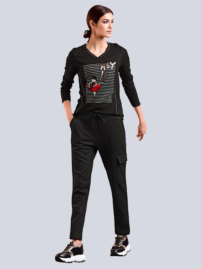 Shirt mit Motivdruck im Vorderteil