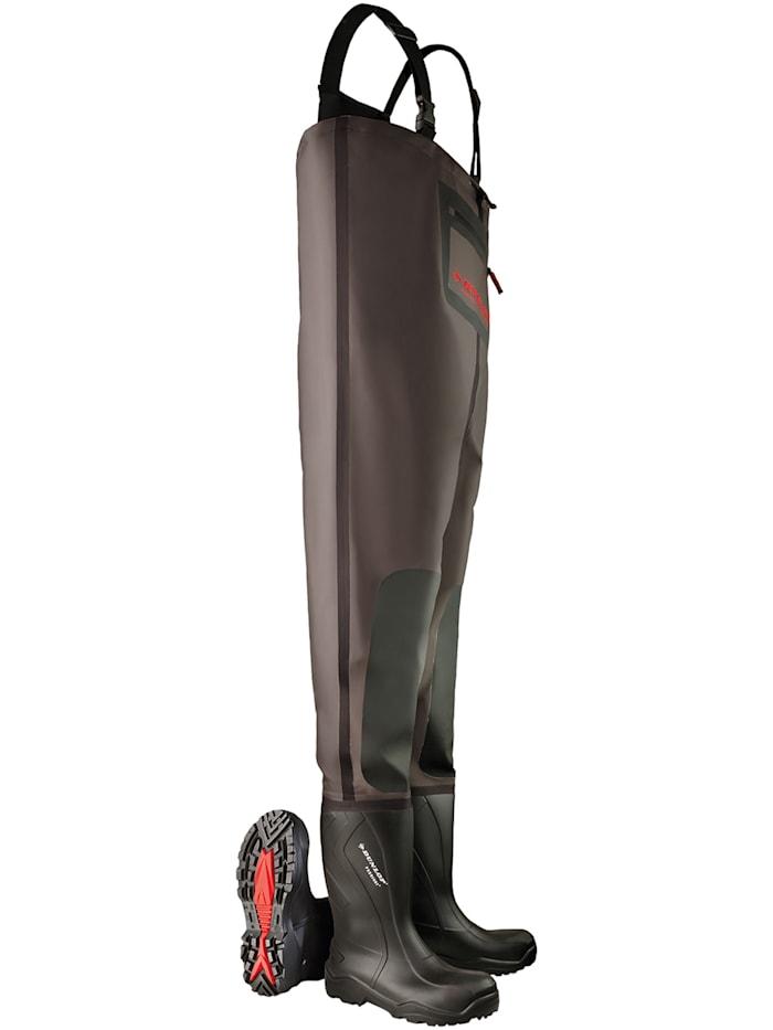 Dunlop Watstiefel Dunlop Purofort+ Wathose, schwarz