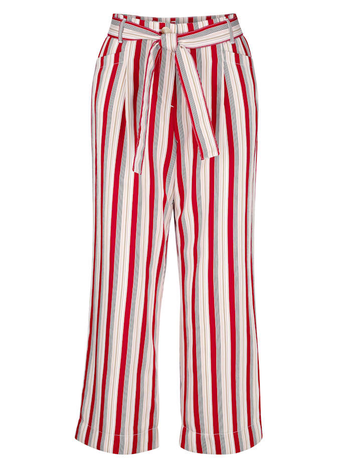 Pantalon 7/8 à rayures tissées de qualité