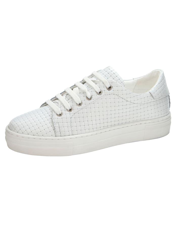 Liva Loop Sneaker in mooie gevlochten look, Wit