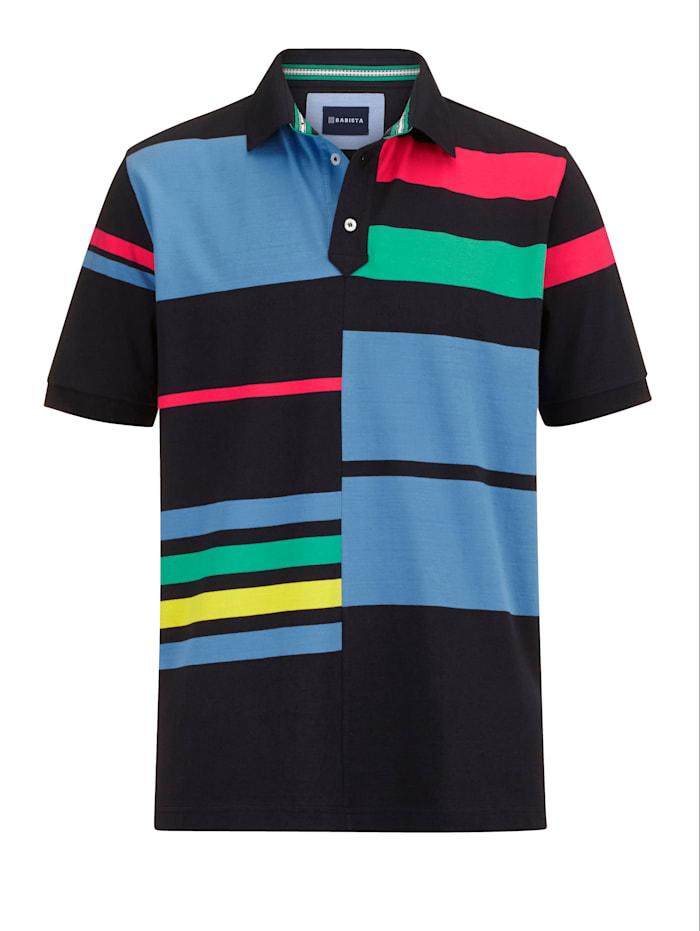 BABISTA Poloshirt mit grafischem Muster, Schwarz/Grün