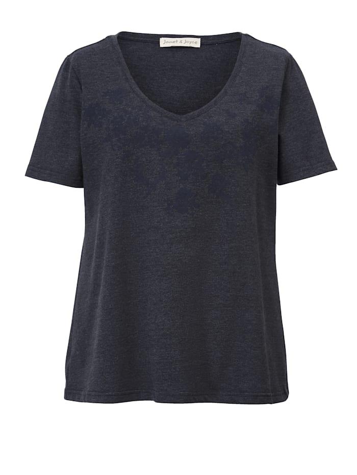 Shirt met rubberprint