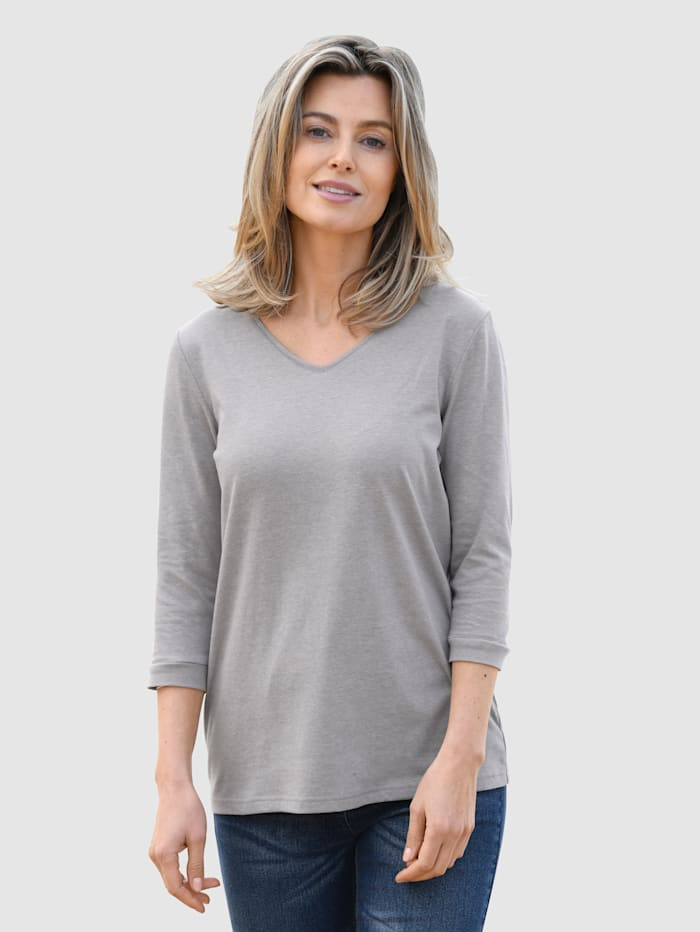 basically you Shirt mit Baumwolle, Grau