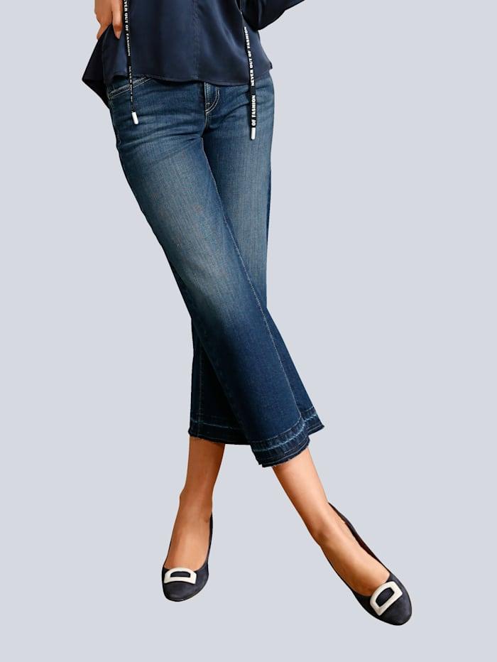 CAMBIO Jeans in modischer Culotte-Form, Blue stone