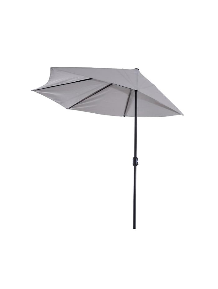 Outsunny Sonnenschirm mit Handkurbel, grau