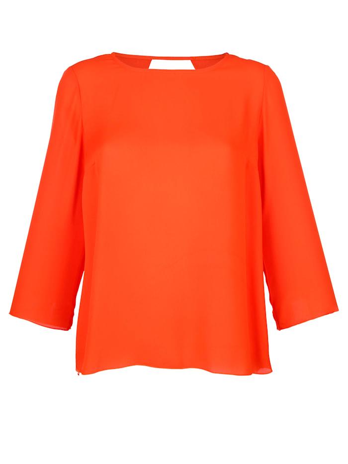 AMY VERMONT Bluse mit Rückenausschnitt, Orange