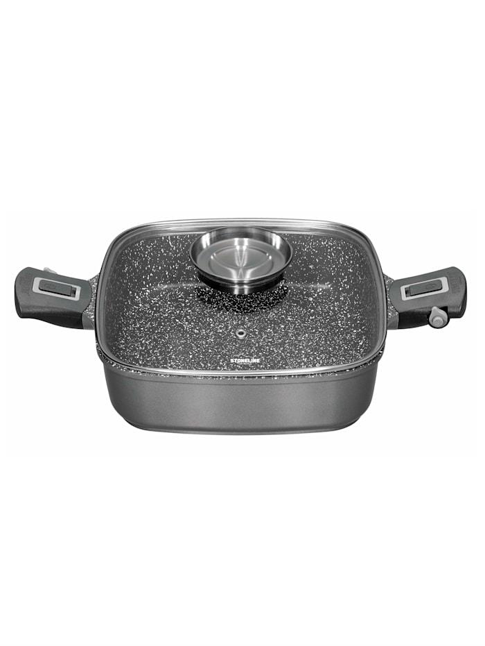 Stoneline Fyrkantig panna – STONELINE® Imagination Plus (28 x 28 cm), svart