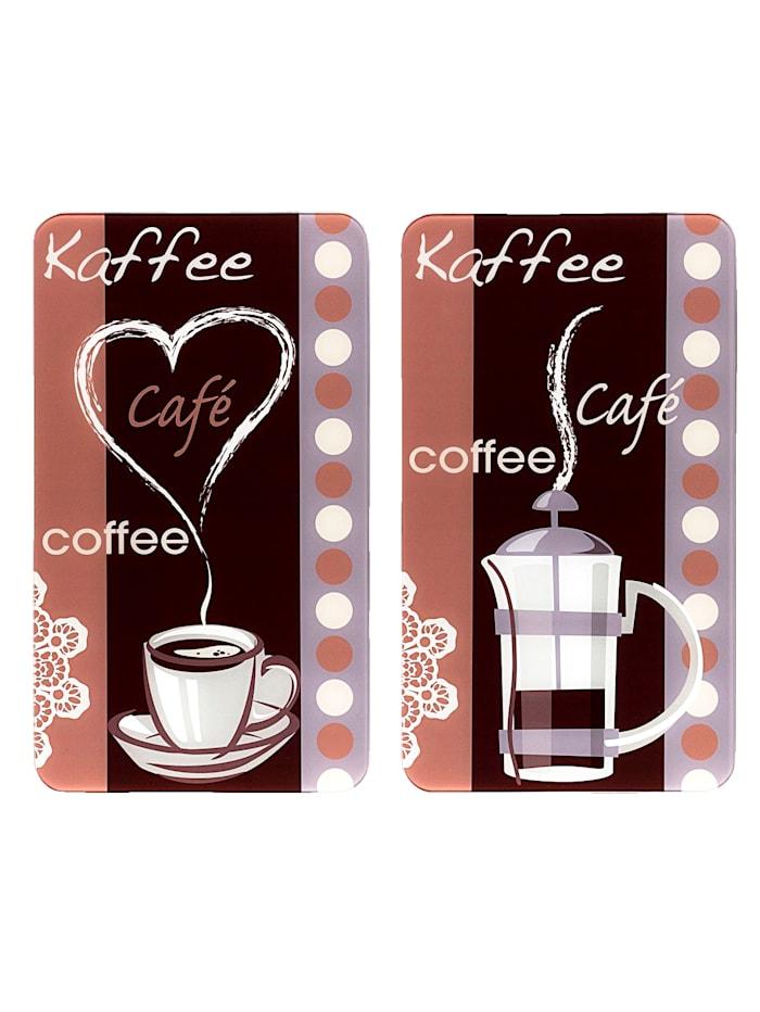 """Wenko 2er-Set Herdabdeckplatten """"Kaffeeduft"""", Kaffeeduft"""