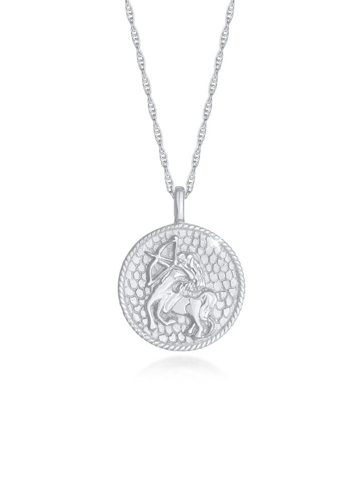 Elli Halskette Sternzeichen Schütze Astro Münze 925 Silber, Silber