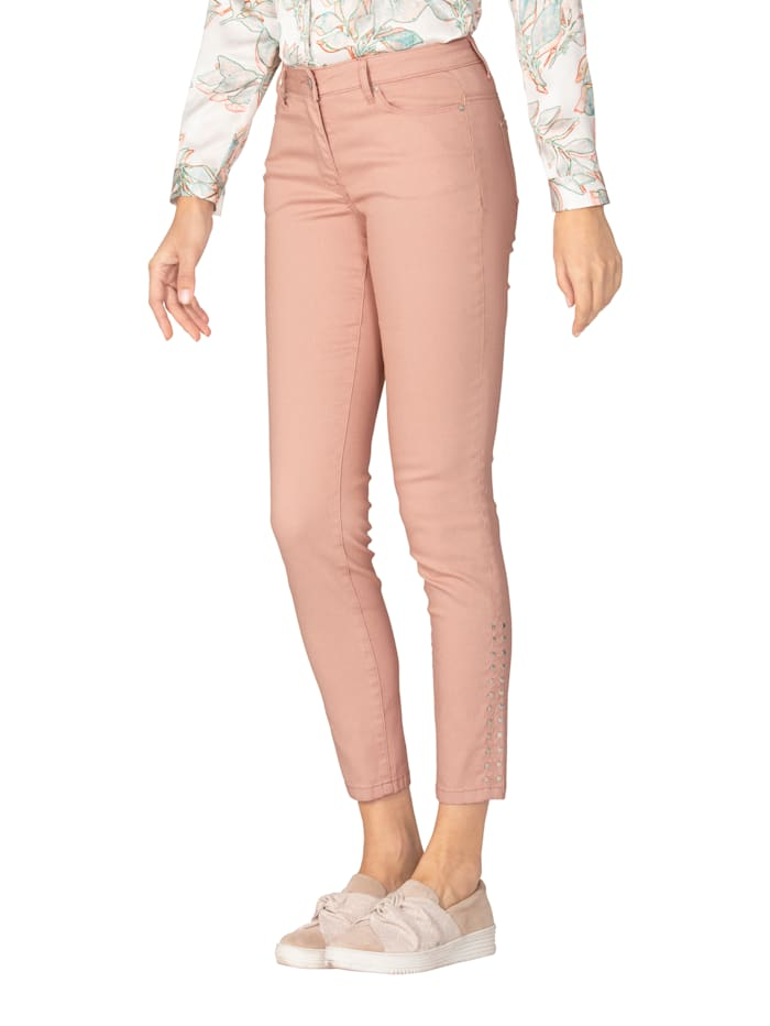 AMY VERMONT Jeans met klinknageltjes, Roze