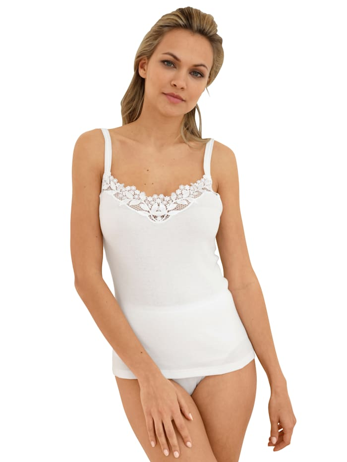 Camisole with lace detail