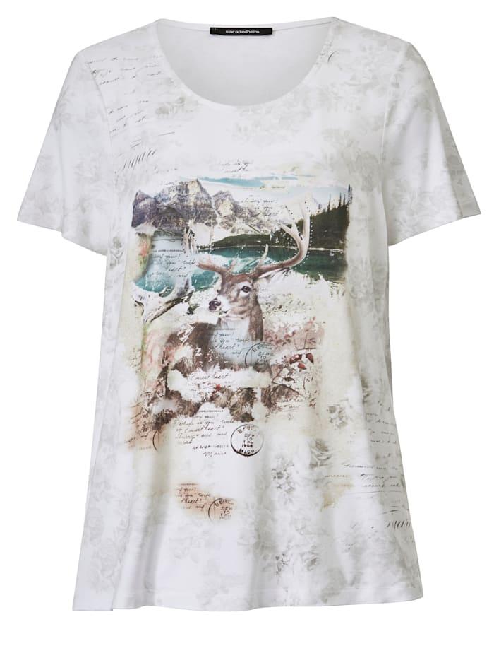 Shirt met hertmotief
