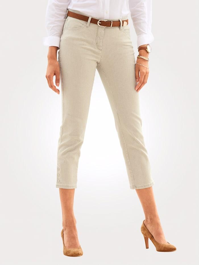 Toni 7/8-Jeans, Beige/Ecru