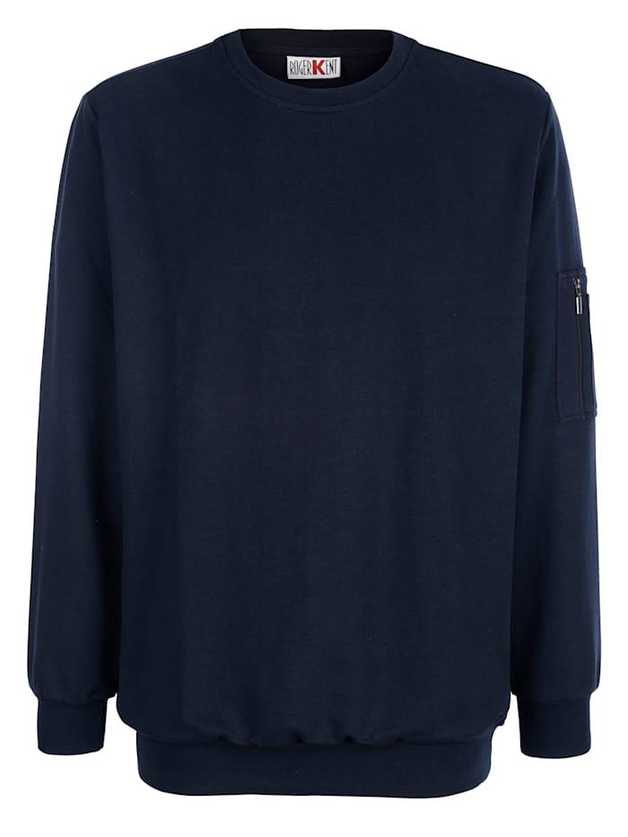 Roger Kent Sweatshirt aus reiner Baumwolle, Marineblau