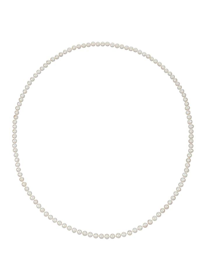 Diemer Perle Süßwasserzuchtperlen-Kette, Weiß