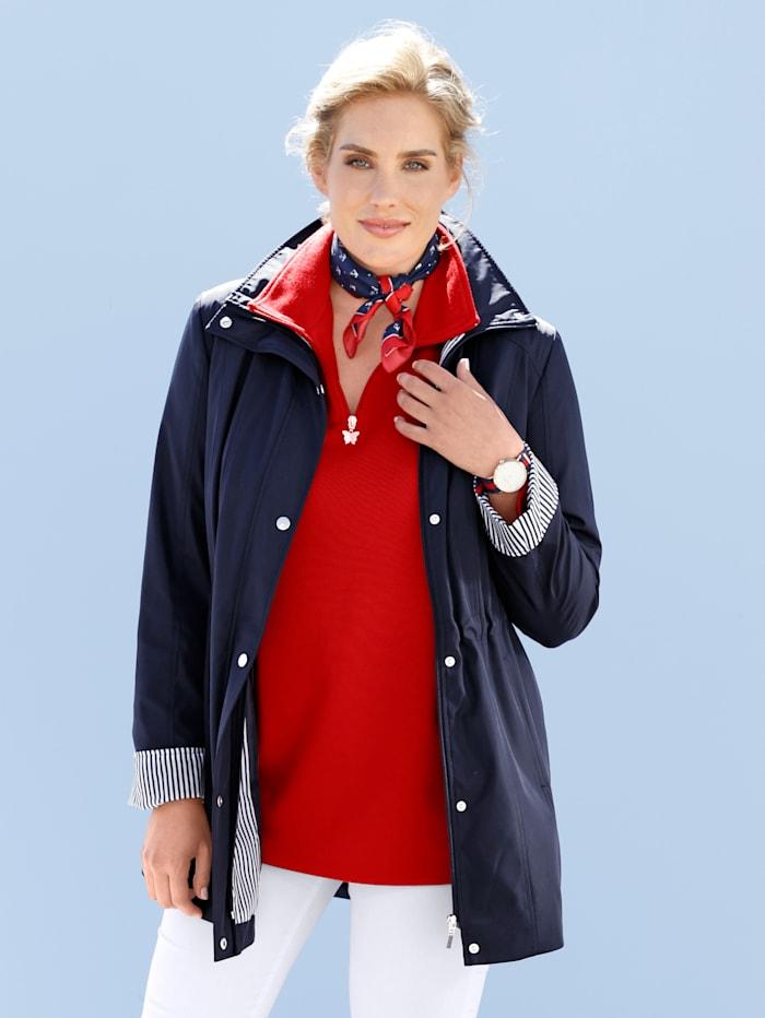 Monette Jacke mit abnehmbarer Kapuze, Marineblau