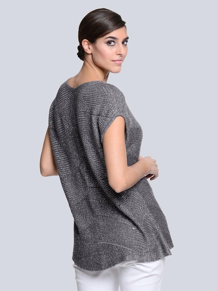 Pullover mit Lurexgarn