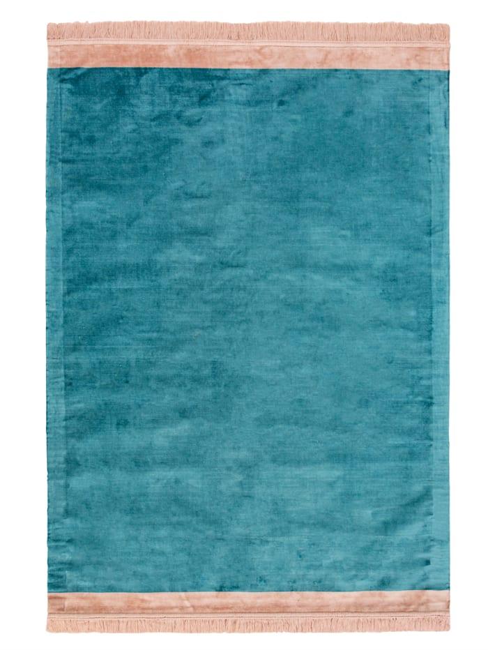 IMPRESSIONEN living Teppich, Blau/Rosé