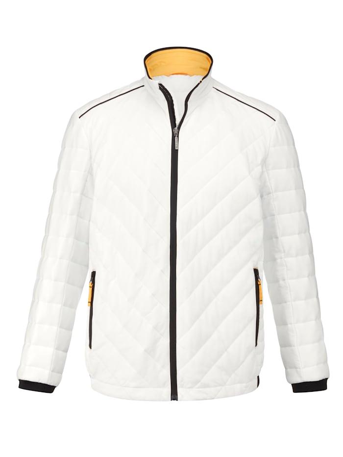 BABISTA Gewatteerde jas Ideaal voor het voor- en najaar, Offwhite
