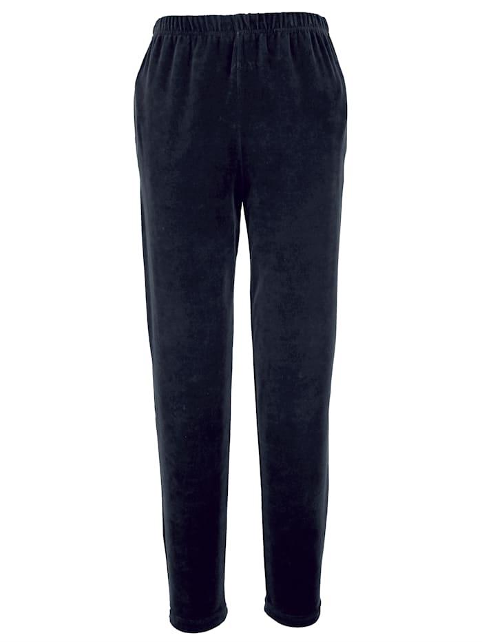 Harmony Pantalon en velours ras, Bleu