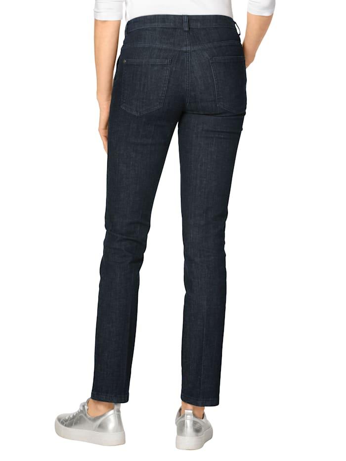 Jeans met doorgestikte biezen