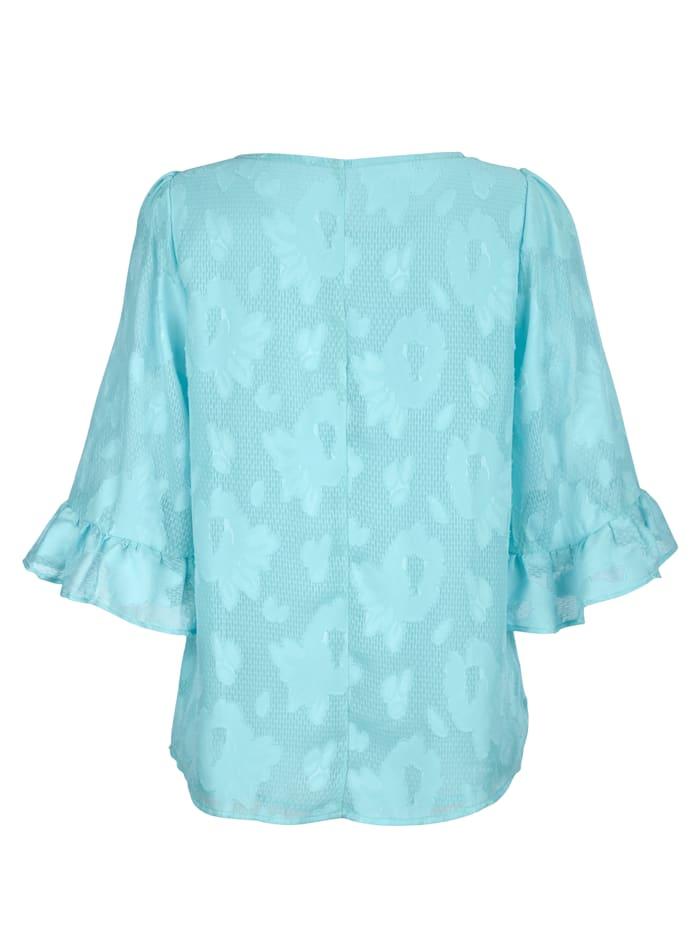Bluse mit floralem Ausbrenner-Dessin