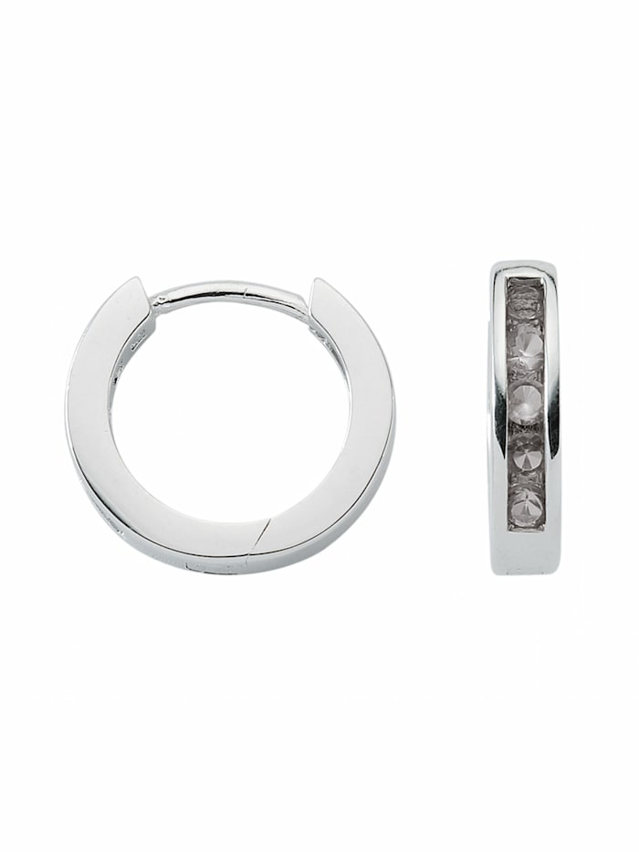 1001 Diamonds 1001 Diamonds Damen Silberschmuck 925 Silber Ohrringe / Creolen mit Zirkonia Ø 15 mm, bunt