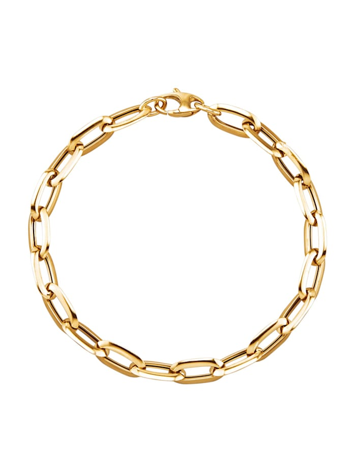 Diemer Gold Bracelet maille jaseron en or jaune 585, Coloris or jaune