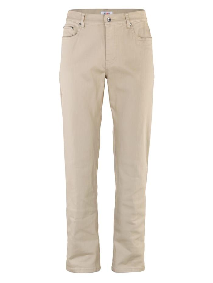 Roger Kent 5-Pocket Hose in Stretch-Qualität, Sand
