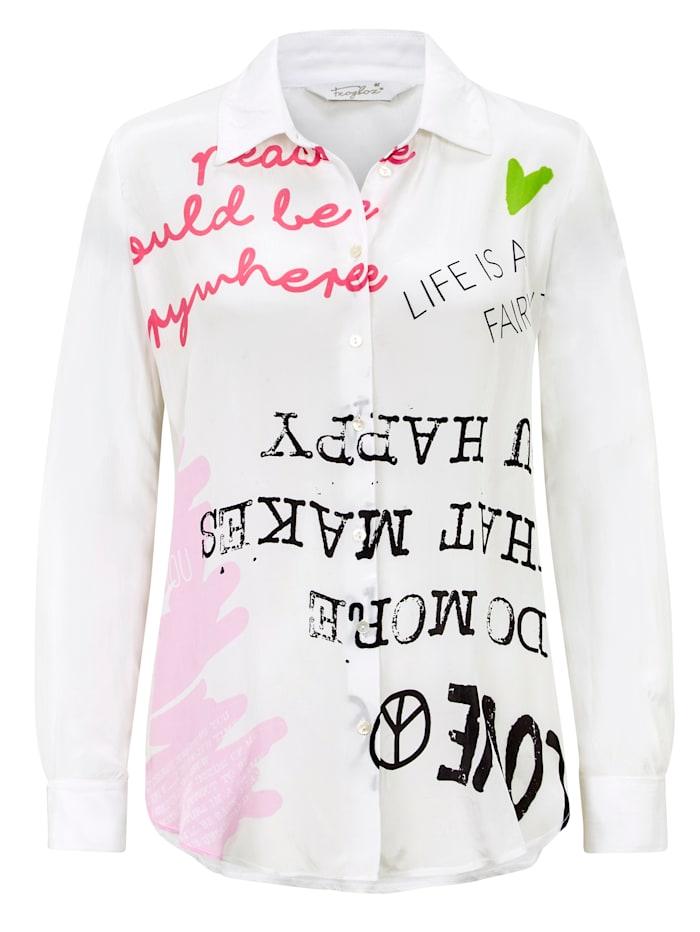 FROGBOX Blusenshirt, Off-white