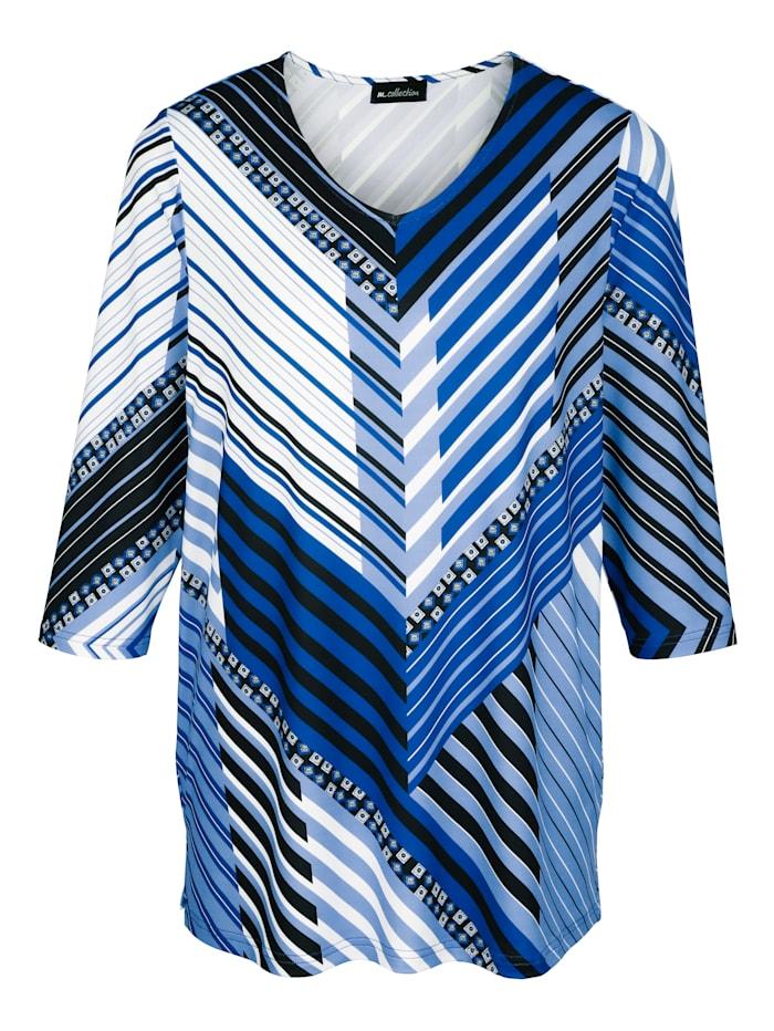 Tričko s rafinovaným vzorom s prúžkami