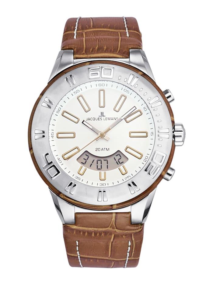 Jacques Lemans Unisex hodinky 1-1772E, Hnedá