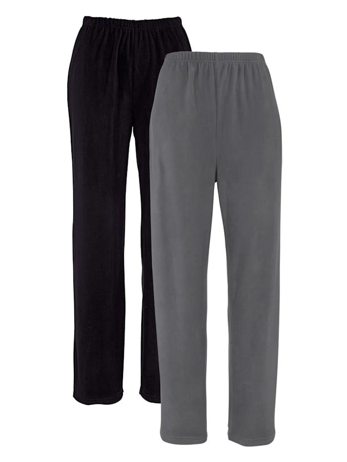 Harmony Pantalons de loisirs Lot de 2, noir/gris