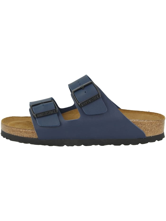 Birkenstock Sandale Arizona SFB Birko-Flor Weichbettung schmal, blau