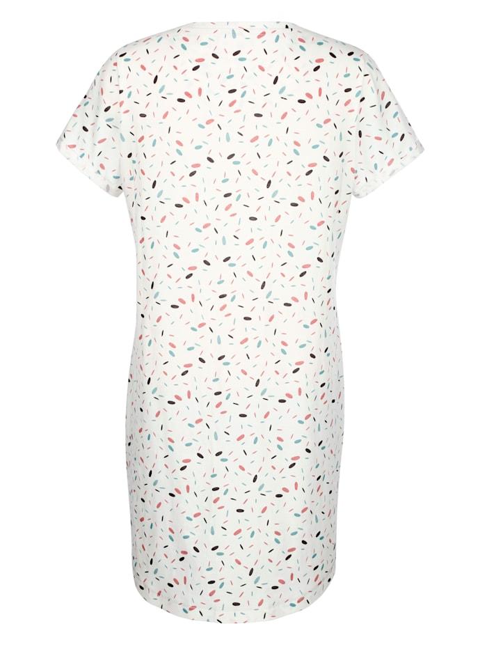 Nočná košeľa s trendovými manžetami na rukávoch