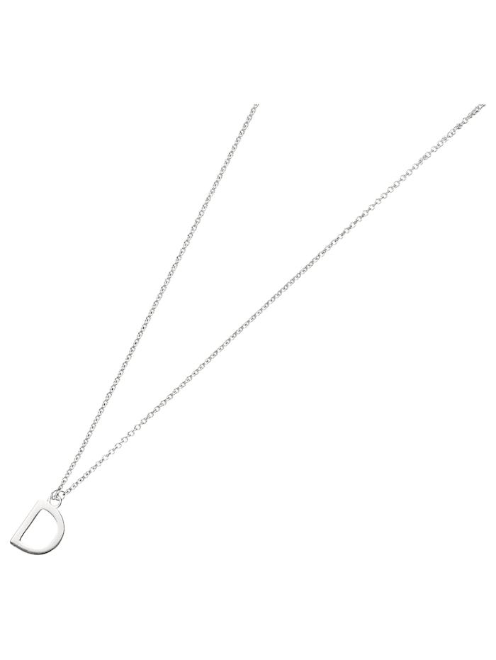 Smart Jewel Collier Buchstabe D, Silber 925, Silber