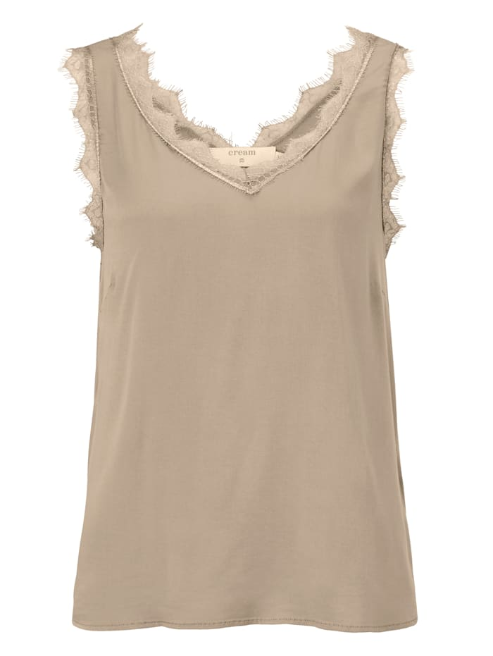 Cream Top, Beige