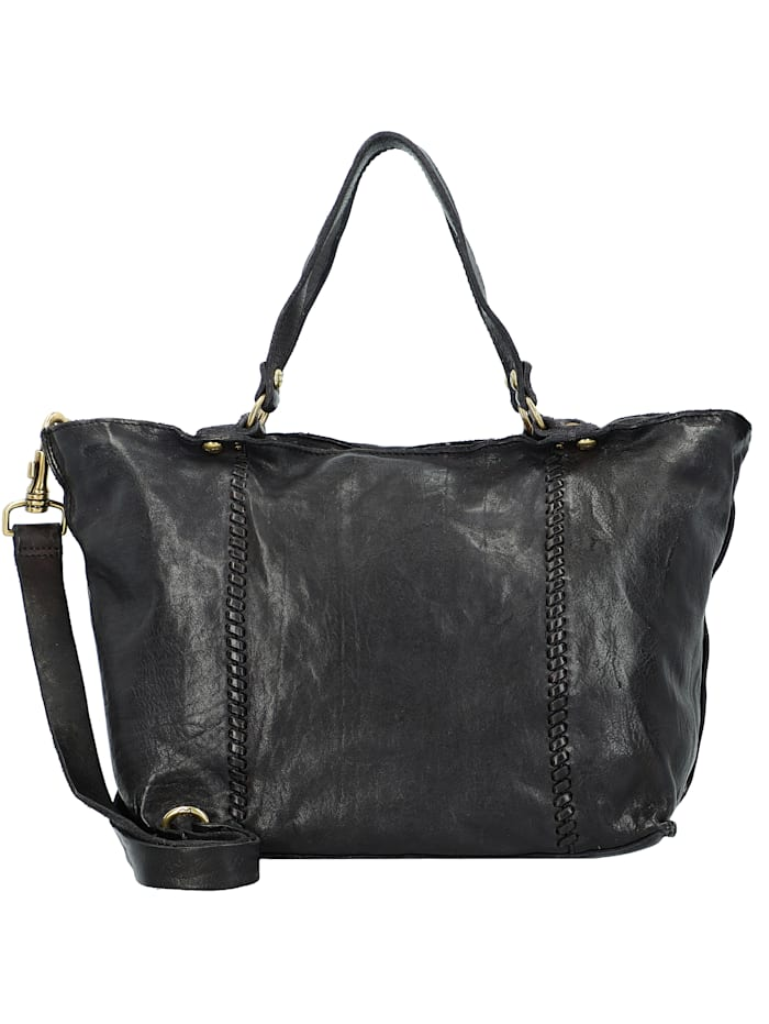 Campomaggi Shopper Tasche Leder 30 cm, nero