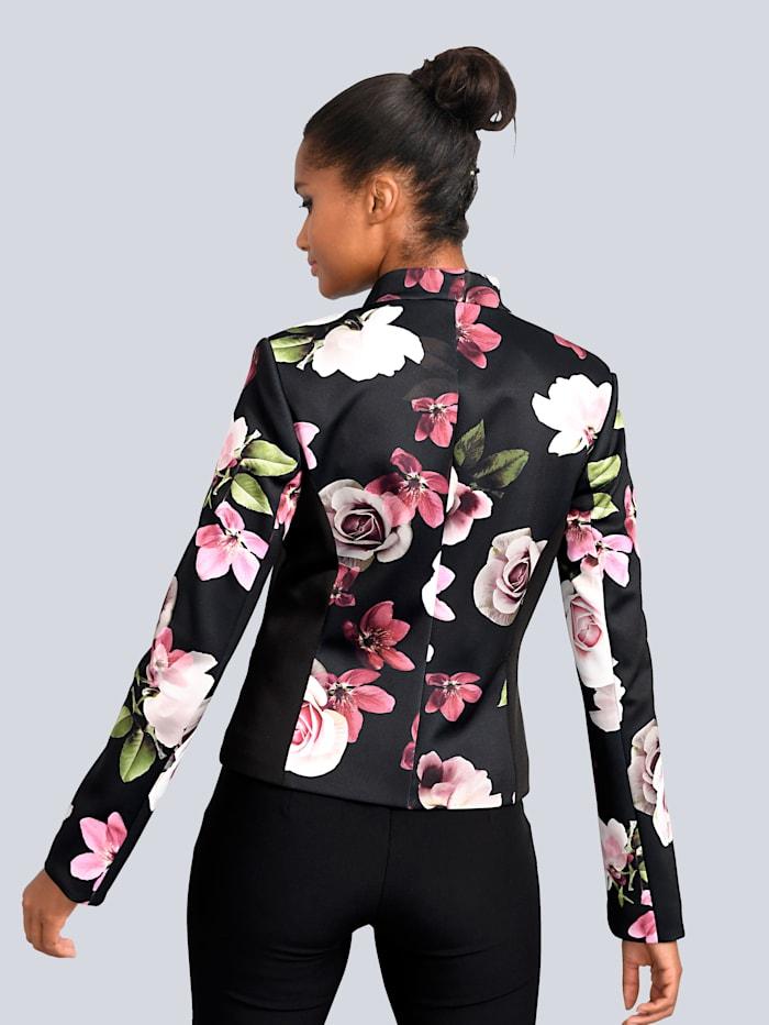 Blazer mit wunderschönem Blumenprint allover
