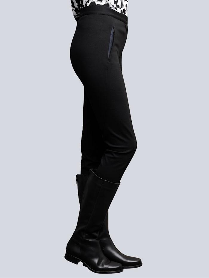 Alba Moda Hose aus konfektionierter Jerseyqualität, Schwarz