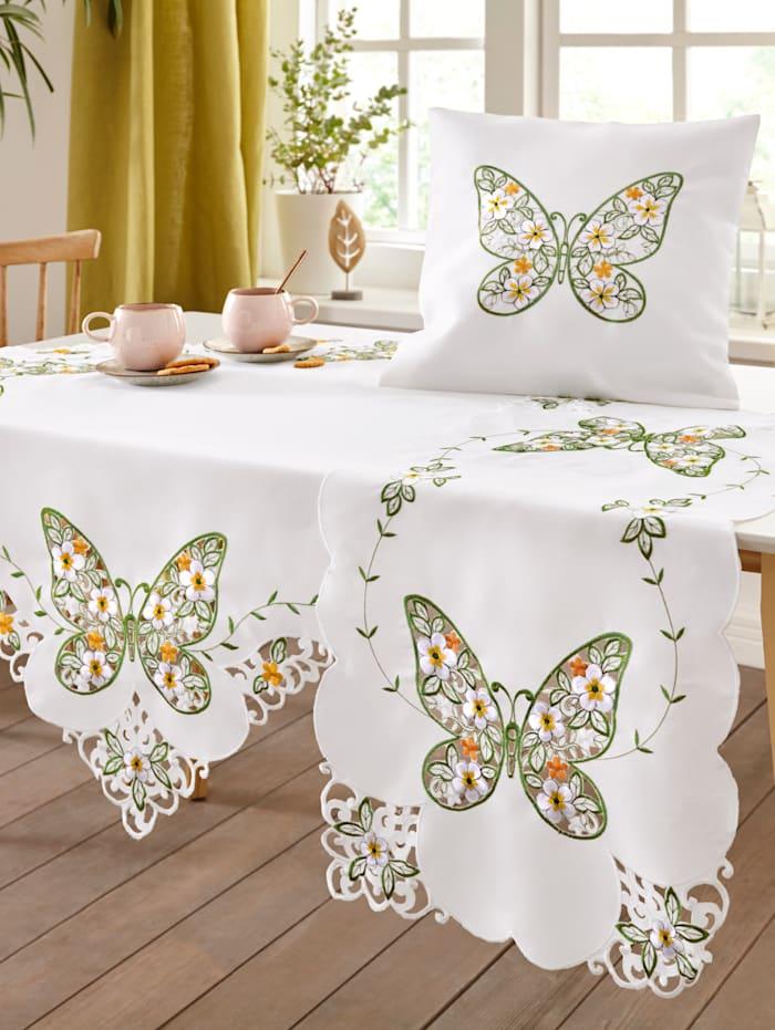 "Webschatz Linge de table ""Beatrix"", champagne/vert/multicolore"