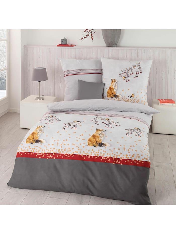 Kaeppel Biber Bettwäsche Fox anthrazit, anthrazit