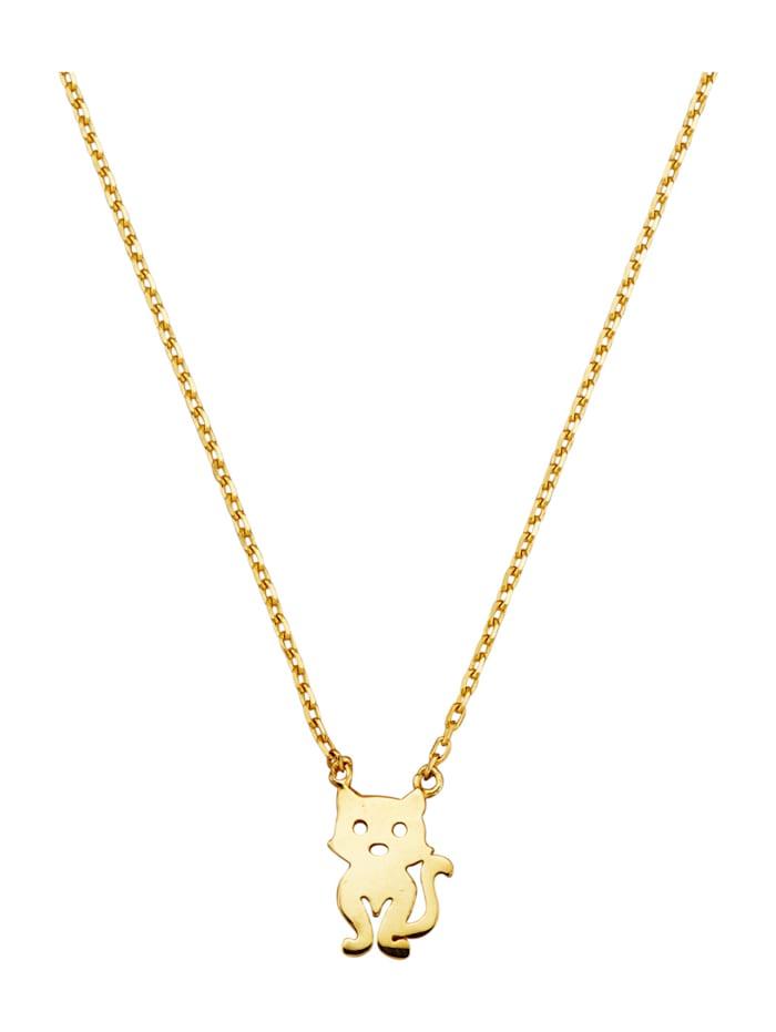 Katzen-Collier in Gelbgold 375, Gelb
