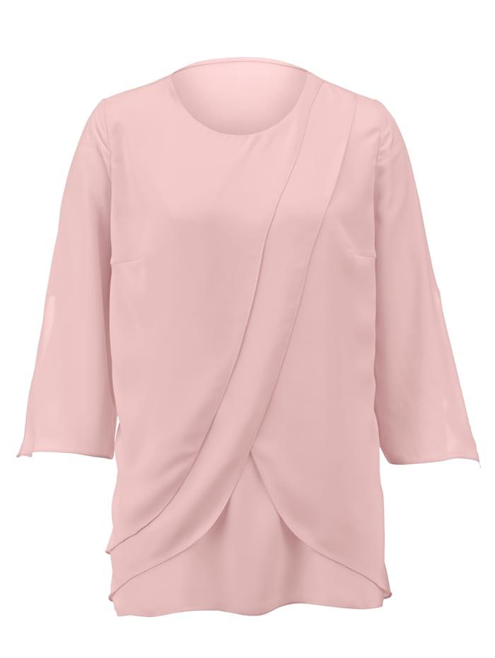 AMY VERMONT Bluse in Lagen-Optik, Rosé