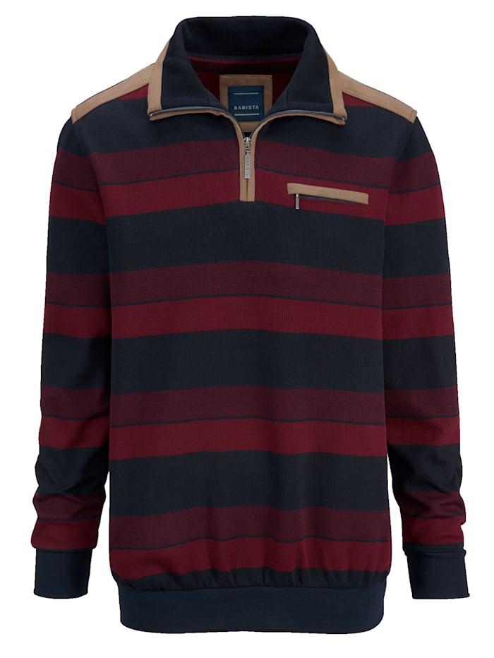 Sweatshirt met beleg van zacht velours