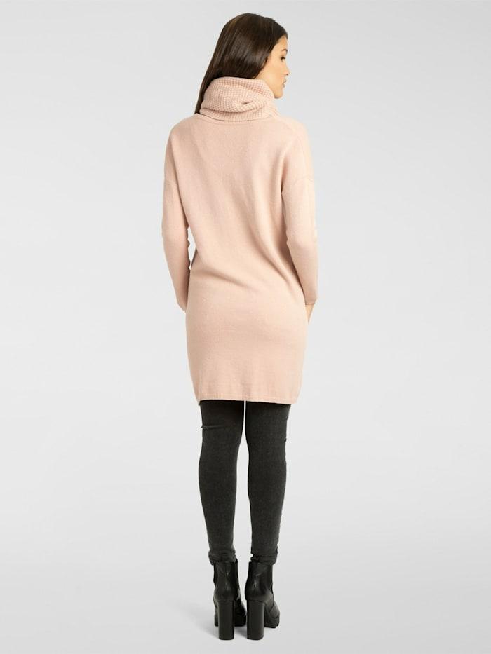 Strickkleid / Long Pullover mit geradem Schnitt