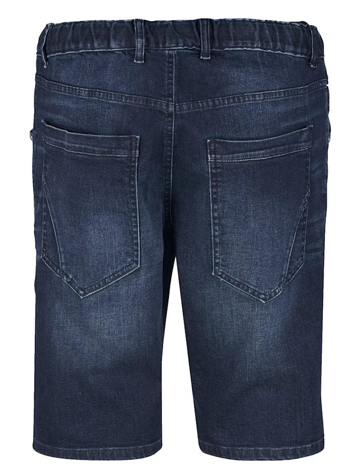 Jeansbermuda mit Rundumgummizug