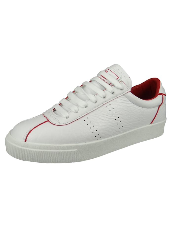 Damenschuhe-Sneaker S111WRW 2869 Club S Comfleau Painted Leder weiß A1Z White red Flame