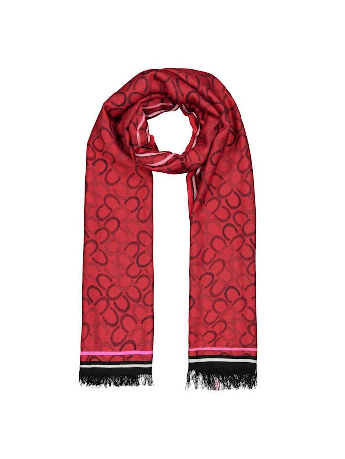 Codello Logo-Schal aus edler Viskose, dark rose