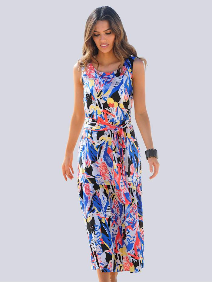 Alba Moda Strandkleid mit Bindegürtel, Blau